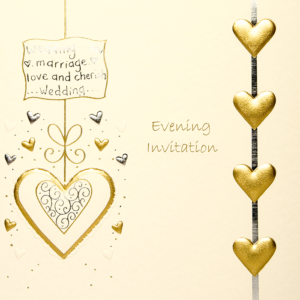 Evening invitation, cream lace