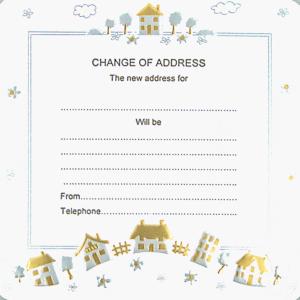 Change of Address, border