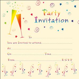 Party Invitation, Swirls