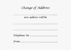 Change of Address Formal