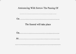 Death Announcement