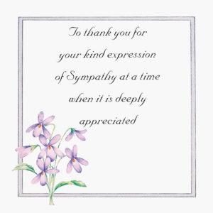 Sympathy Violets