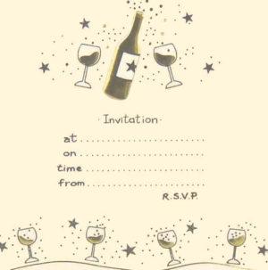 Party Invitation Bottle & Stars