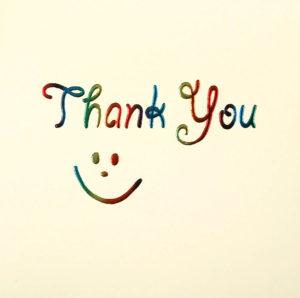 Thank you Smiley Face