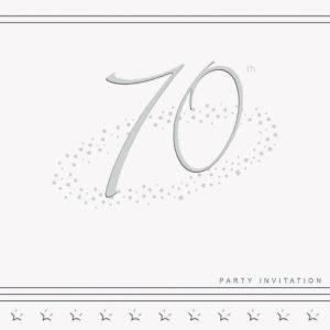 70th Stars Invitation
