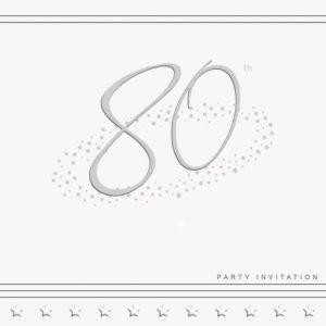 80th Stars Invitation