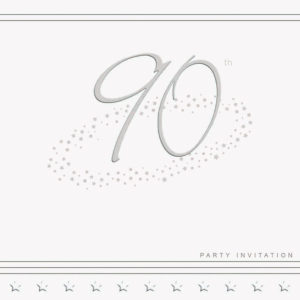 90th Stars Invitation