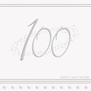 100th Stars Invitation
