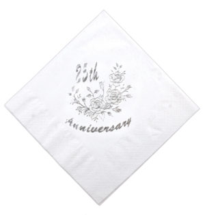 40cm Silver Wedding Napkin