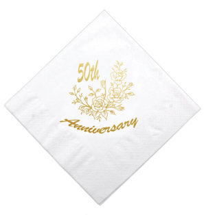 40cm Golden Wedding Napkin