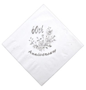 40cm Diamond Wedding Napkin