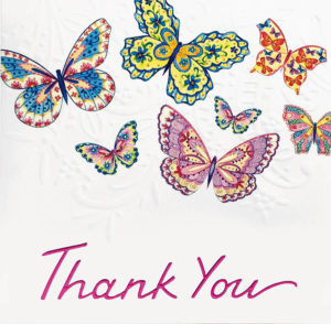 Multi Butterfly Thank you