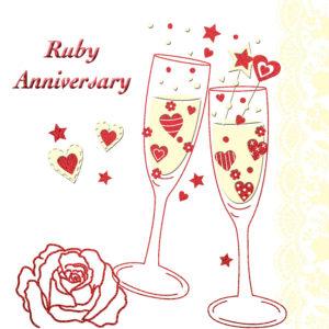 Ruby Anniversary Invitation