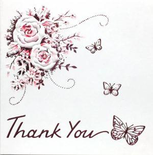 Pink Rose Thank you