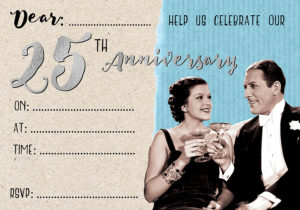 25th Anniversary Invite