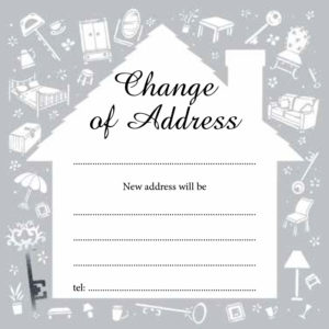 Change of Address - House
