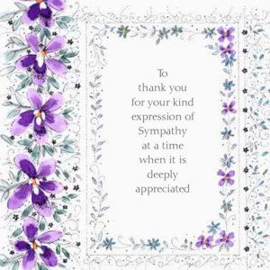 Sympathy Thank You