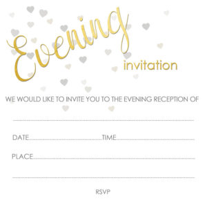 Deckle Evening Invitation
