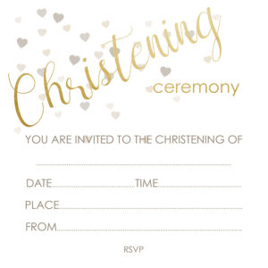 Deckle Christening Invite