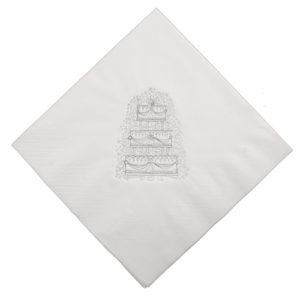 Wedding Cake Napkin