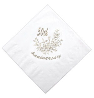 Golden Wedding Napkin