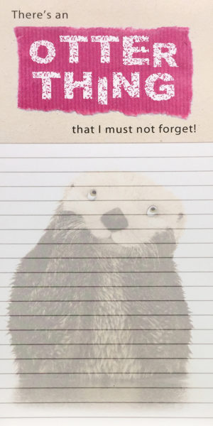 Magnetic List Pad-Otter Thing