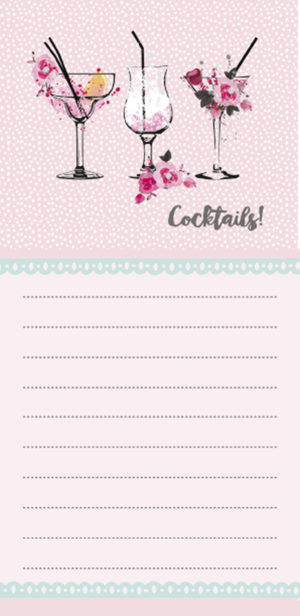 Magnetic List Pad-Cocktails