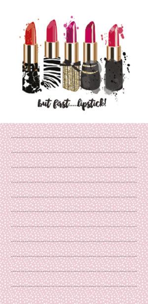 Magnetic List Pad-Lipstick