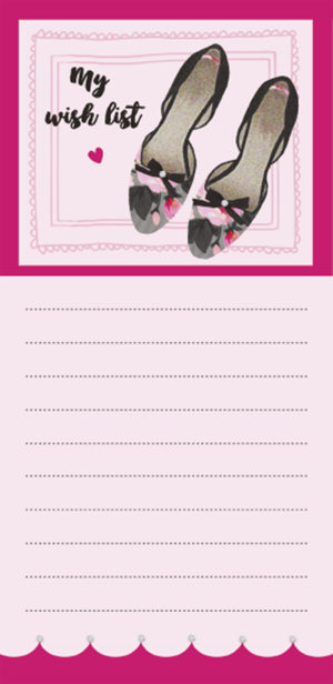 Magnetic List Pad-My Fave Shoes