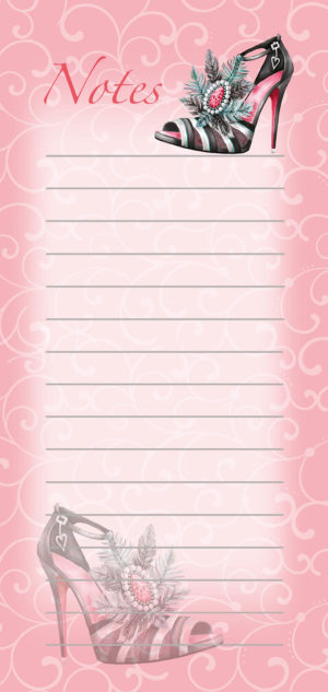 Magnetic List Pad-Feather