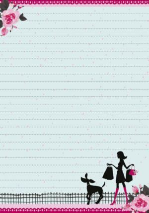 Pad of Writing Paper - Dog Walking