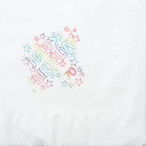 70 Happy Birthday Napkin