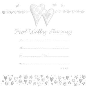 Pearl Anniversary Hearts