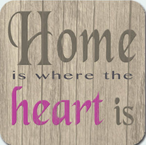 Home heart Coaster