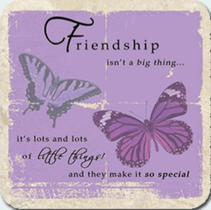 Friendship - lots of little things Coaster