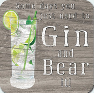 Gin and Bear it Coaster