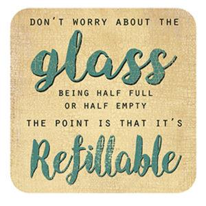 Glass Refillable Coaster