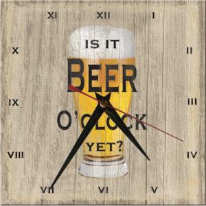 Wooden Clock-Is it Beer O'Clock