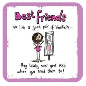 Best Friends like Knickers (Ginger Masala) Coaster