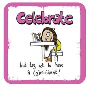 Celebrate (g)incident (Ginger Masala) Coaster