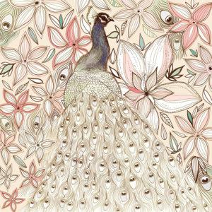 Fay's Studio Cards-Peacock