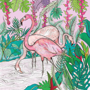 Fay's Studio Cards-Flamingos