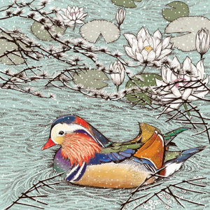 Fay's Studio Cards-Mandarin Duck