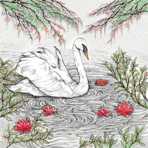 Fay's Studio Cards-Swan