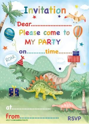 Dino Presents Invite