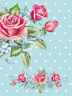 Pocket Floral-Rose polka Dot