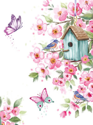 Pocket Floral-Bird House Floral