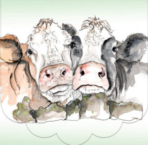 Cath Ward Notepad-2 Cows