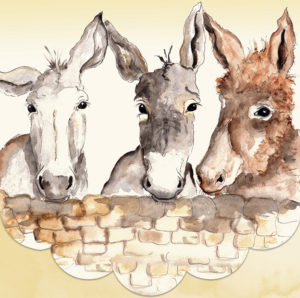 Cath Ward Notepad-Donkeys