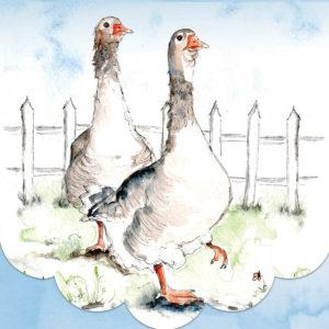 Cath Ward Notepad-2 Geese